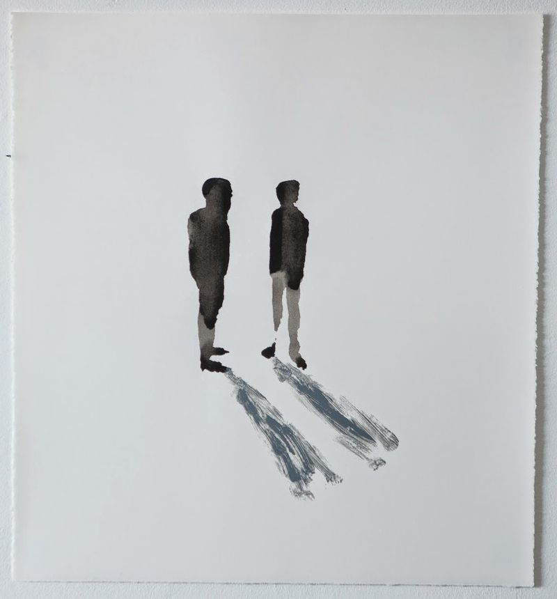 UntitledTwo Figures with Shadows24 x 22, ink and monotype on paper