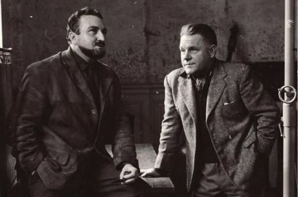 Lawrence-durrell-with-some-french-guy