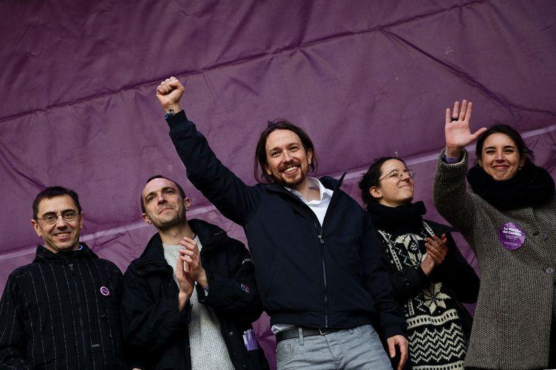 Los-lideres-de-Podemos--entre-ellos-Pablo-Iglesias--en-el-mitin-del-pasado-31-de-enero-